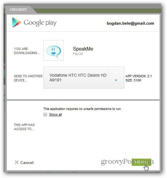 speakme android install