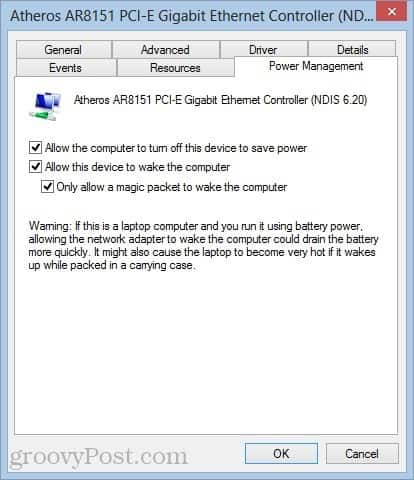 How to Set Up Wake-on-LAN (WOL) in Windows 8
