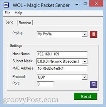 wol magic packet sender
