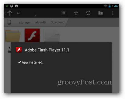 Android Flash Player Installed