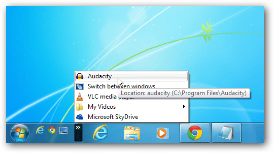 Audacity Quick Launch