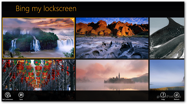 how to set lockscren with different picture changing