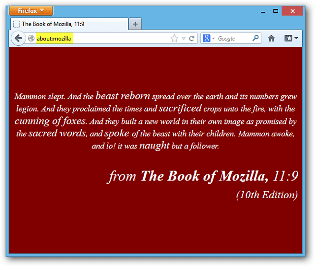 Book of Mozilla