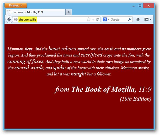Book of Mozilla