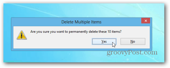 Delete Multiple Items