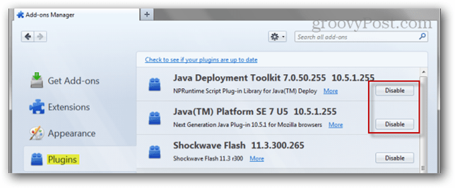 How To Uninstall or Disable Java in Web Browsers
