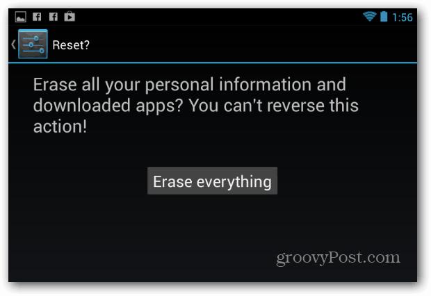 Erase Everything