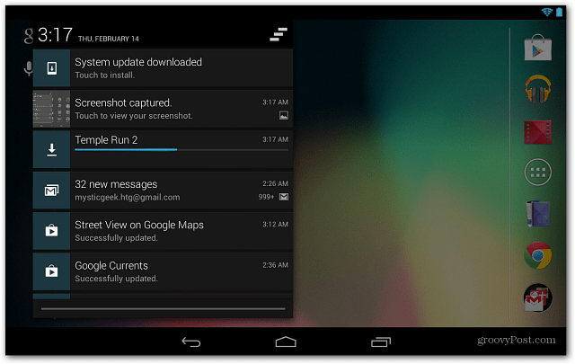 Google Nexus 7 Updates