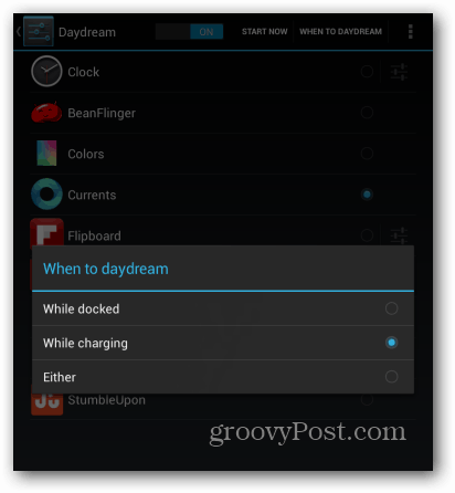 Nexus 7 when to daydream