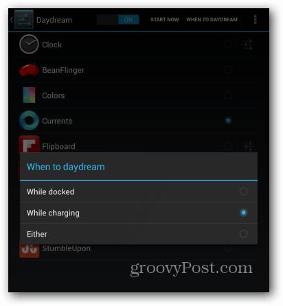 Nexus 7 when to daydream