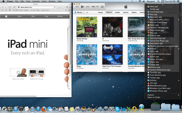 OS X Mountain Lion Desktop