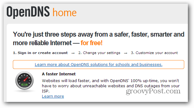 OpenDNS Home