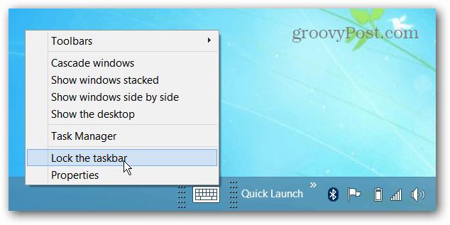 Unlock Taskbar