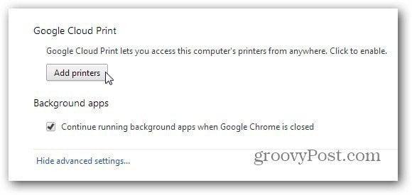 cloud print add printers