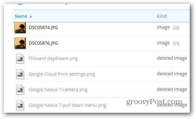 dropbox deleted files