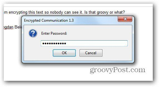 encrypted communication password