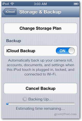 iOS Storage and Backup