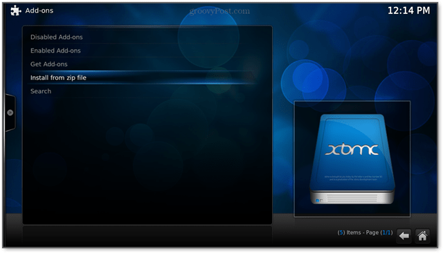 Install the bluecop repo from a zip file on a usb stick