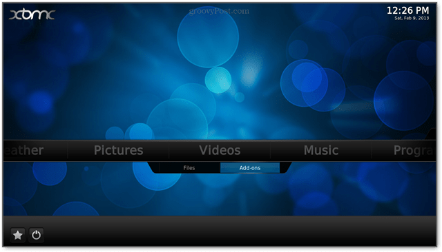 click Vidoes and then add-ons to access hulu on the xbmc app for raspberry pi