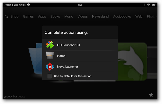 complete action default launcher