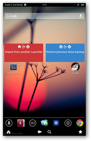 nova launcher on kindle fire hd screenshot