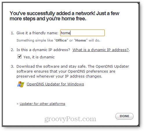 opendns updater for windows, mac and linux