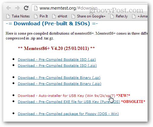 memcheck86 download usb boot installer