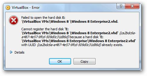virtualbox error - failed to open hard disk uuid