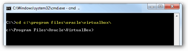 cd to the virtualbox directory