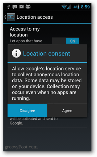 android location consent