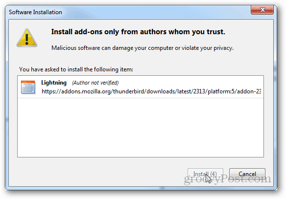 install add-ons