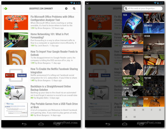 Android Feedly