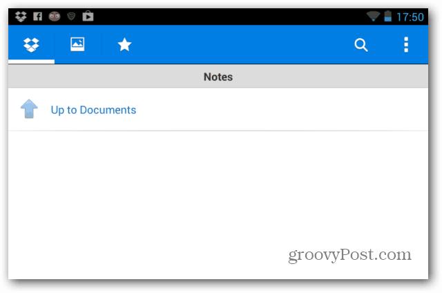 Dropbox notes
