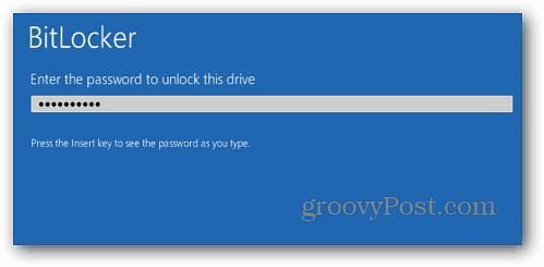 Enter BitLocker Password