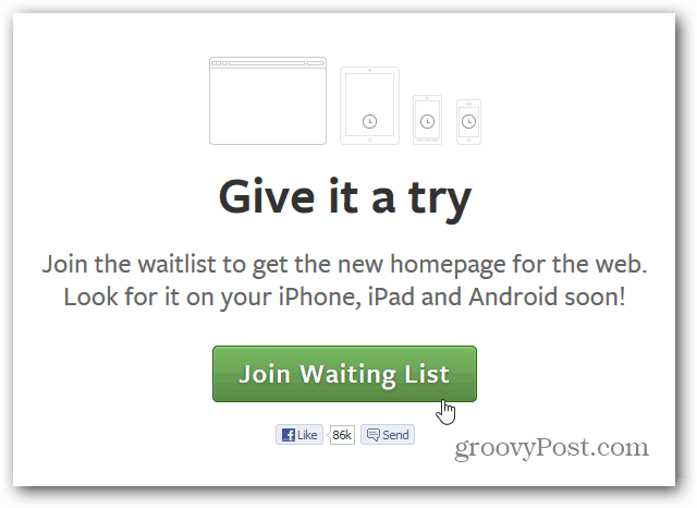 Facebook Join Waiting List
