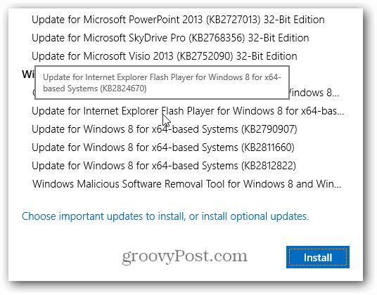 IE 10 Flash Update