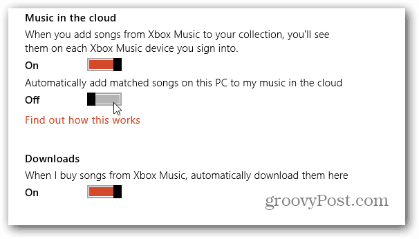 Music in the Cloud Preferences