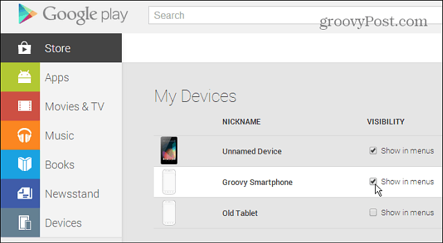 Play Store Devices