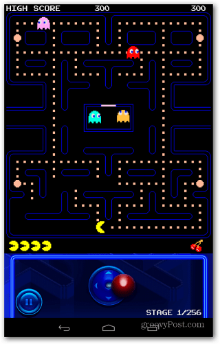Pac-Man Portraite View Joystick