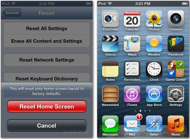Reset iPhone Home Screen