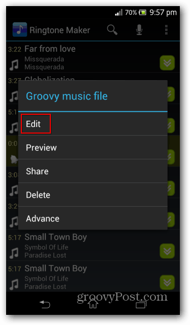 Ringtone maker options