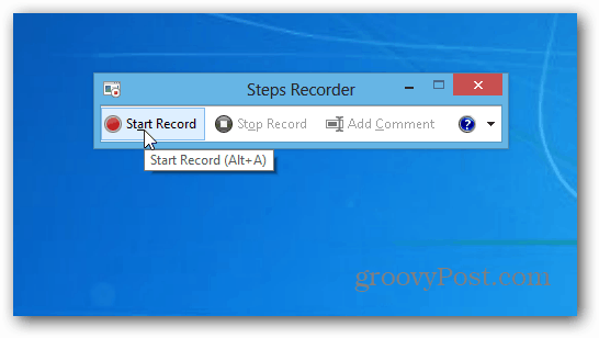 Steps Recorder