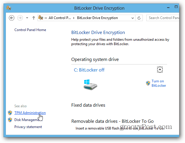 Enable Full Disk BitLocker Encryption On PCs Without TPM