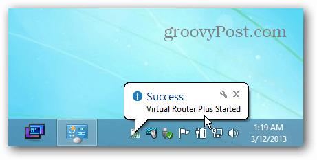 Windows 8 Virtual Router Running
