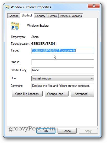 Win7 Server Path