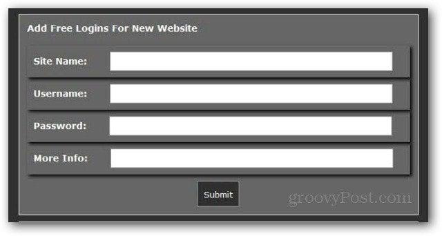 add free logins