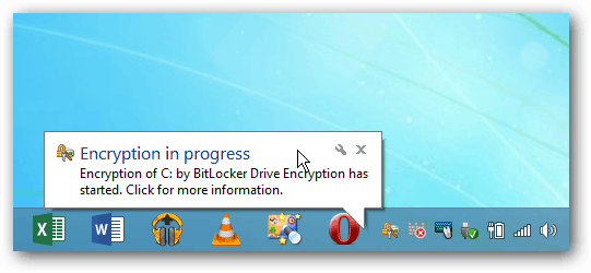 encryption progress