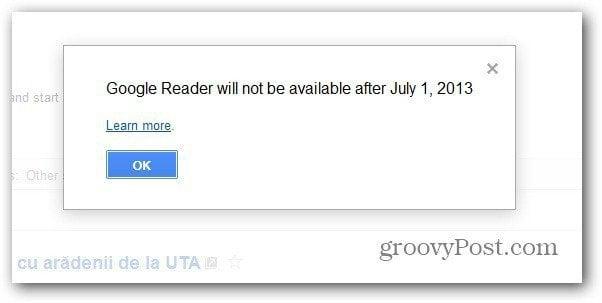 goole reader closing