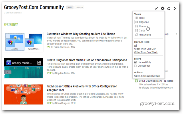 groovyPost Feed in Feedly