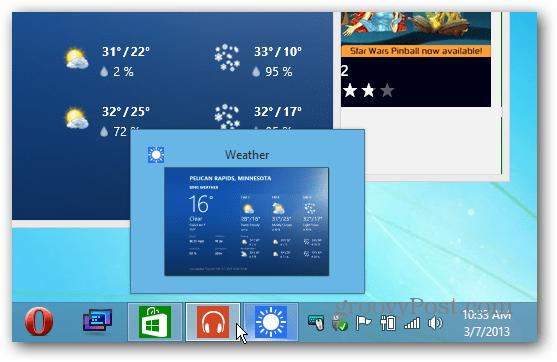 icons on Taskbar